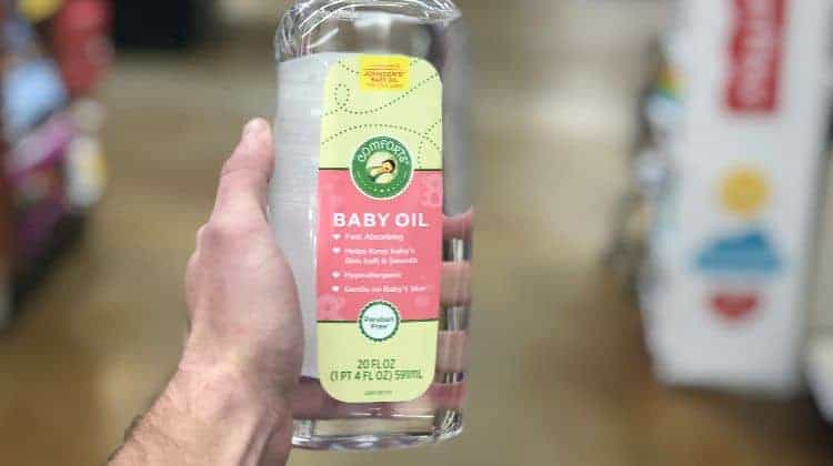 survival uses of baby oil