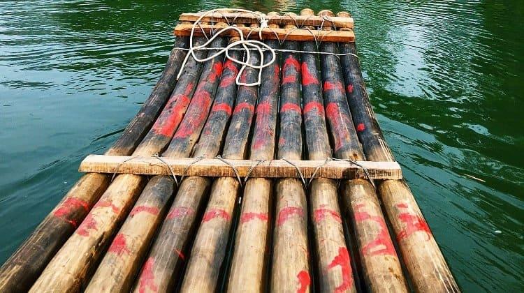 diy survival bamboo raft