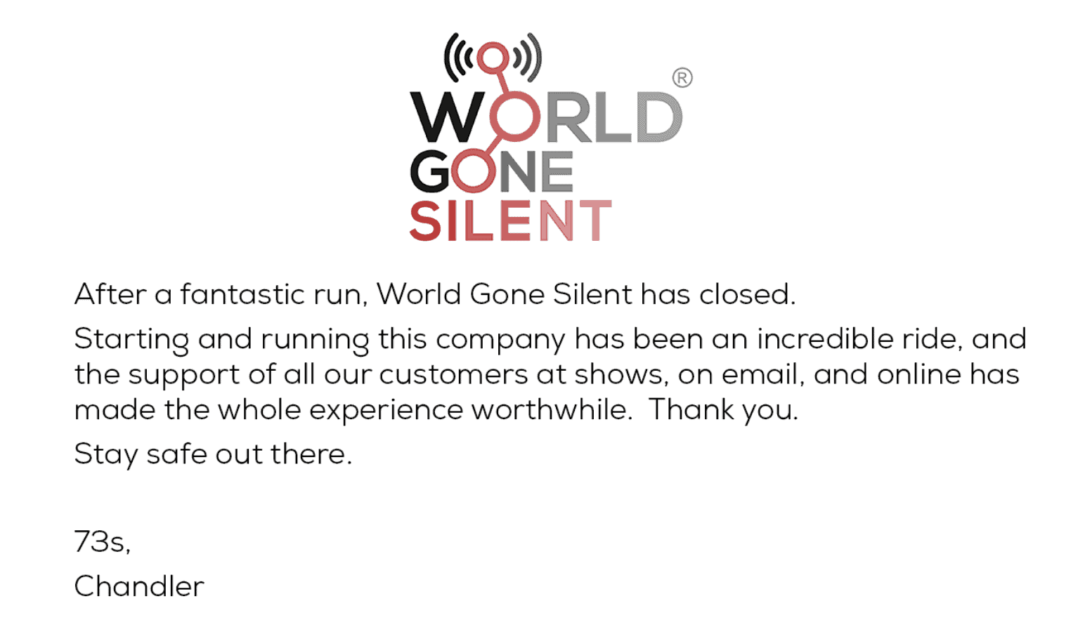 world gone silent closed